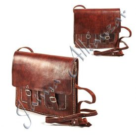 Leather Briefcase Documents - 4 Compartment - 28 cm