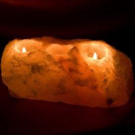 Salt Candle 5 Holes - Natural Himalaya - Gross - Feng Shui