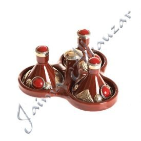 Decorated Mini Spice Tajin-Various Colors-7.5 cm High