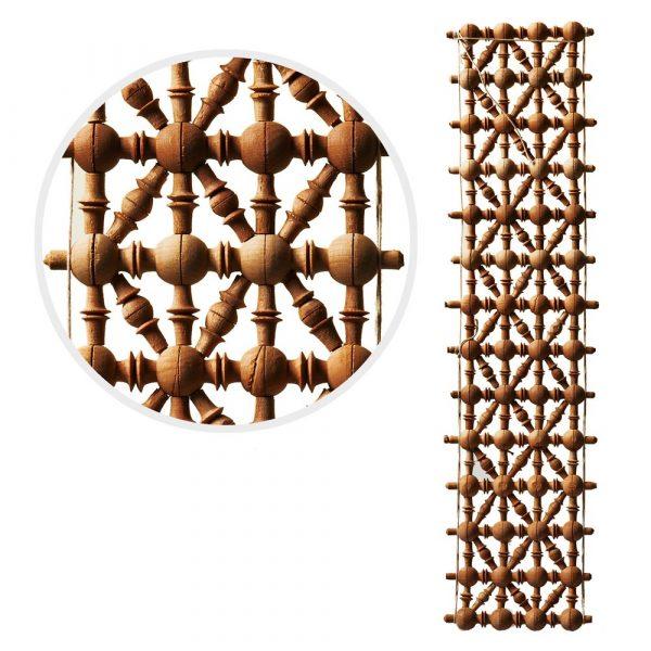 Lattice - Madera-diseno-Arabic - 49 cm x 10 cm
