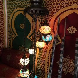Turkish 7 Ball Lamp - Floor - Height 110 cm - Murano Glass - Mosaic