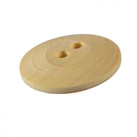 Double lemon wood button hole - handmade - 3 cm