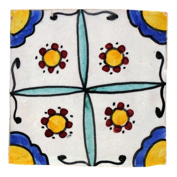 Al-Andalus - 10 cm - several designs - handcrafted tile - model 25