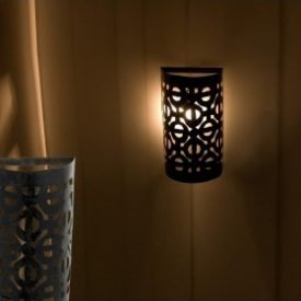 Openwork Iron Sconce - Artisan - Arabic Design - Long Marrakesh