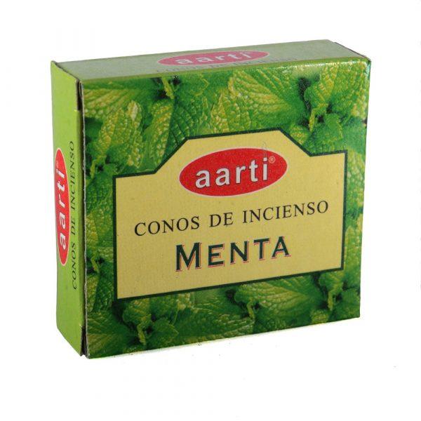 Cones incense - Aarti - Mint - 12 cones