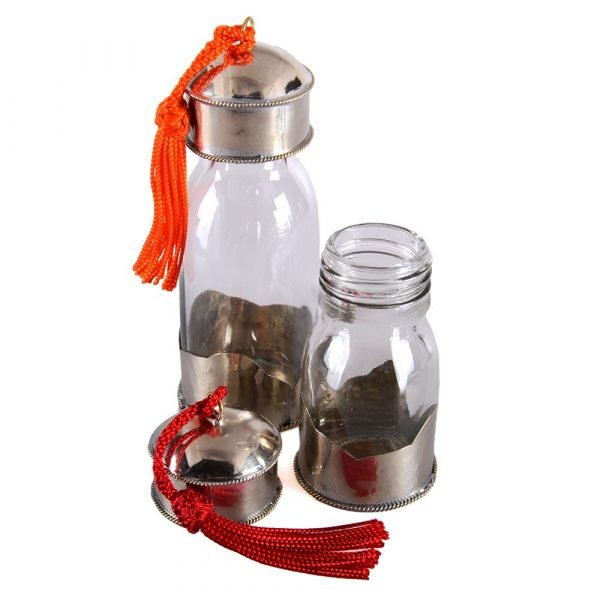 Jar Crystal - coated with Alpaca - special oils