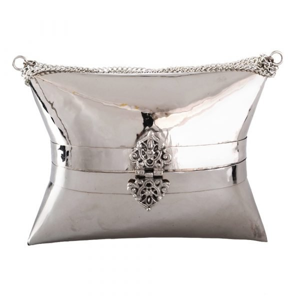 Nickel bag - made by hand - chain and closing