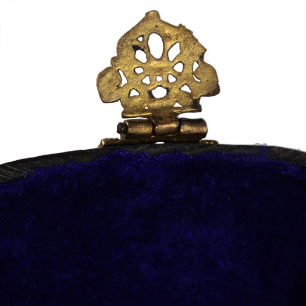 Cow and brass - Horn bag made by hand - chain and closing