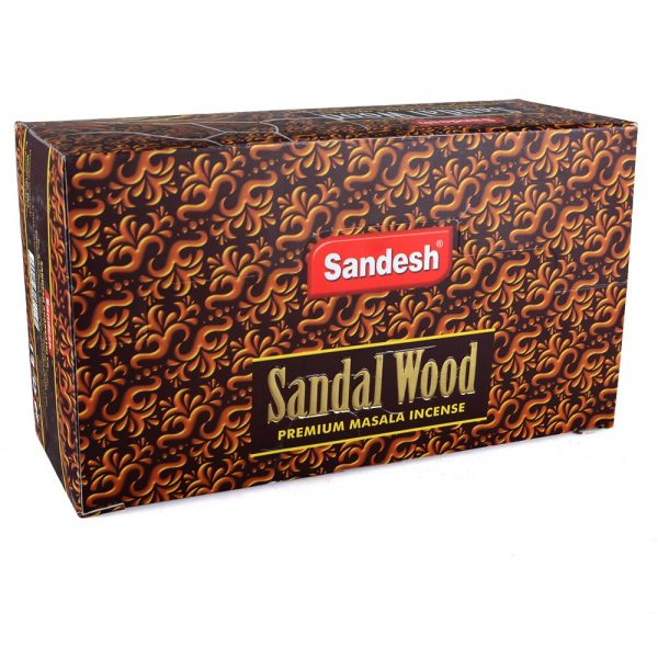 Sandalwood incense - Sandesh - incense Masala Premium - box 12 rods