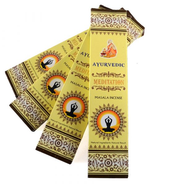 Masala - - meditation - Ayurvedic incense box 15 rods