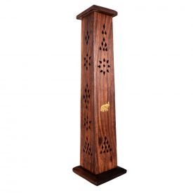 Incense burner Base and Tower - Tower - wood - elephant