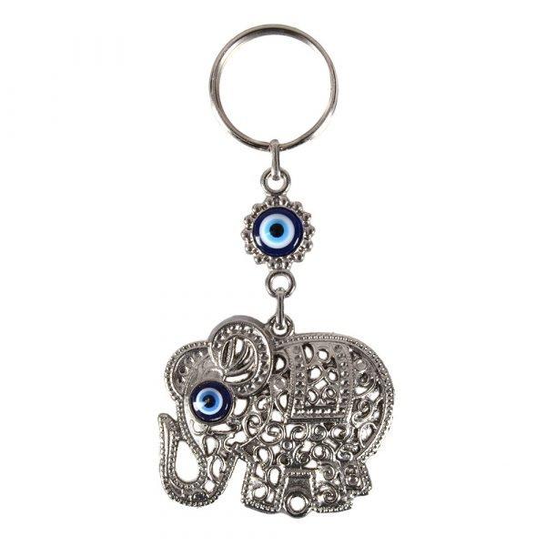 Turkish eye - model elephant - 10 cm keychain
