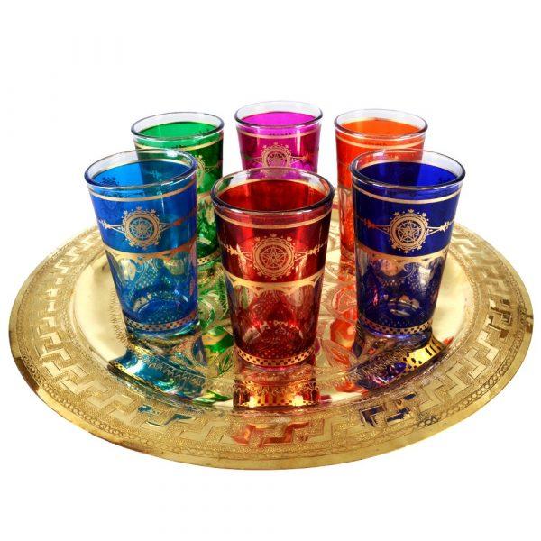 Game 6 glasses Arab - star Morocco - Multicolor-new - model 10