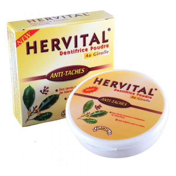 Toothpaste powder with nail - HERVITAL - white and healthy teeth - novelty - 50 g
