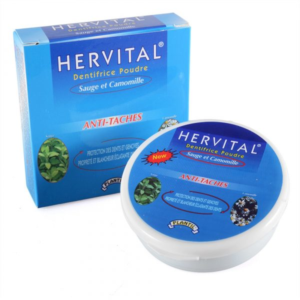 Toothpaste powder with Sage and Chamomile - HERVITAL - white and healthy teeth - novelty - 50 g