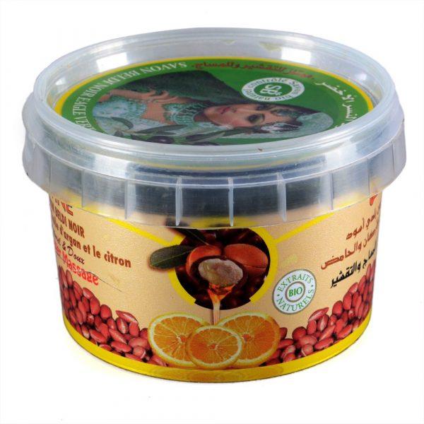 Beldi black - BIO - ZWINE SOAP - oil of Argan and lemon - fresh and Natural - 250 g