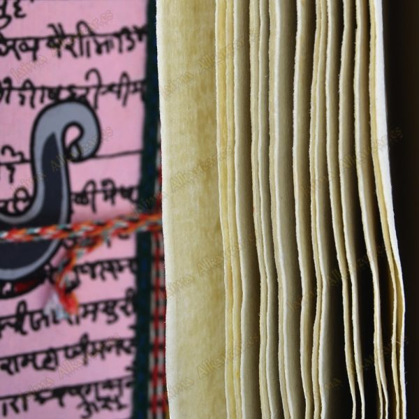 Book of the India - paper handmade - 100% - cotton - 13 cm