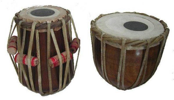 Tables Indias - instrument percussion Hindu - 2 pieces - ORIGINAL