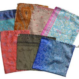 Bags recycled Sari - models and assorted colors - 32 cm