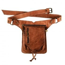 Fanny crafts - 100% leather - great quality - 5 compartments