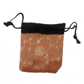 Mini gift bags - recycled Sari - models and assorted colors - 9 cm