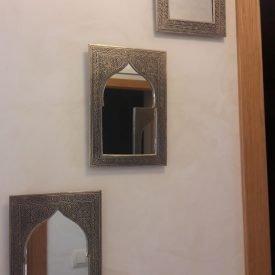 Engraved Arabic Mirror - Moorish Arch Design - Andalusian Decoration