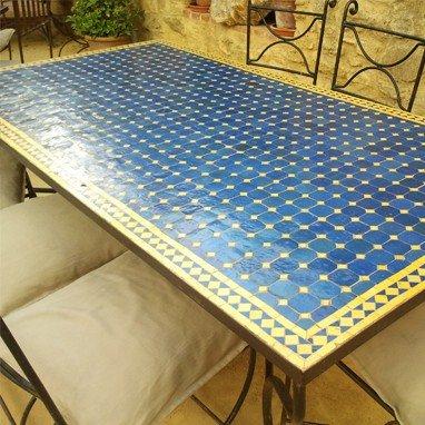 Artisan Mosaic Table - Rectangular- Handmade - Various Sizes and Colors