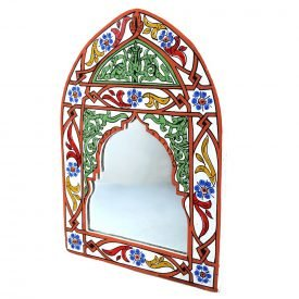 Mirror Andalusí hand - painted various colors - 29 cm