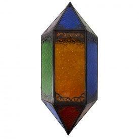 Apply glass draught - Multicolor - Rhombus - 43 cm