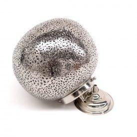 Arab Sphere Ceiling Lamp - Openwork Nickel Brass - Kurwaa Model - 28 cm