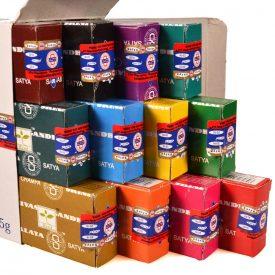 Box 12 Cases of the Best Varieties of Incense in Rod Satya
