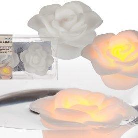 Floating Led Candle - Pink Design - Orange Light - 2 und