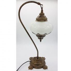 Lamp Night Table - Craquelure Crystal - Model KASAB