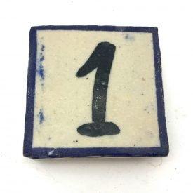 Blue Tile Numbers - Craft - 5 x 5 cm - Sarka Model