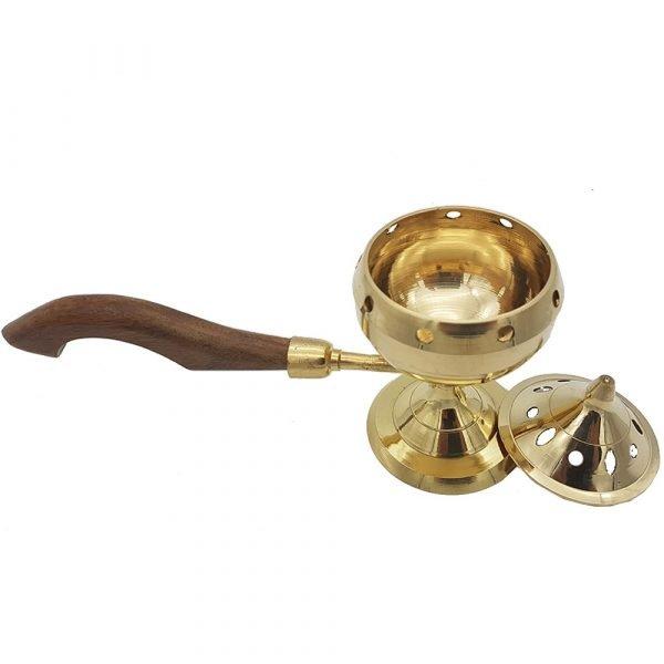Bronze Censer - Wooden Handle - Model AHKAM