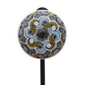 Forge and Ceramic Hanger - Floral Design - Model Kazakhstan