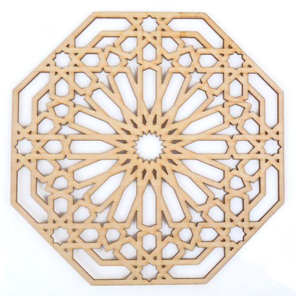 Arabian Celosia Openwork - Wood Laser Cut - Model 8 - 20 x 20 cm