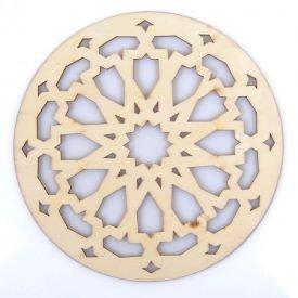 Arabic Openwork Celosia - Glasses - Laser Cut Wood - Model 9 - 10 cm