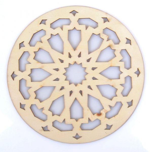 Celosia Arabe Calada - Posa Glasses - Wood Laser Cut - Model 11 - 20 cm
