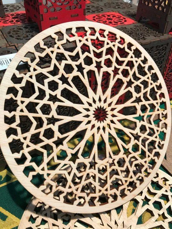 Openwork Arabic Lattice - Laser Cut Wood - Model 7 - 20 cm