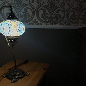 Turkish Lamp Bedside Table - Swan Model - 17 cm