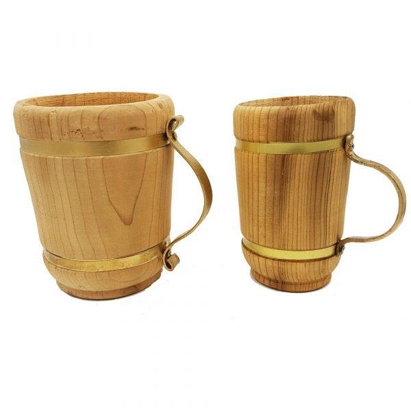 Wooden Beer Mug - 100% Handmade - Khashab Model