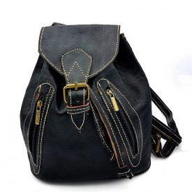Leather Backpack - 4 Pockets - 100% Leather - Model SAGUIR