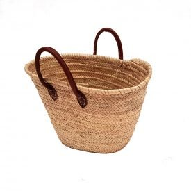 Braided Palmetto Carrycot - Leather Handles - 100% Natural - PALMA Model
