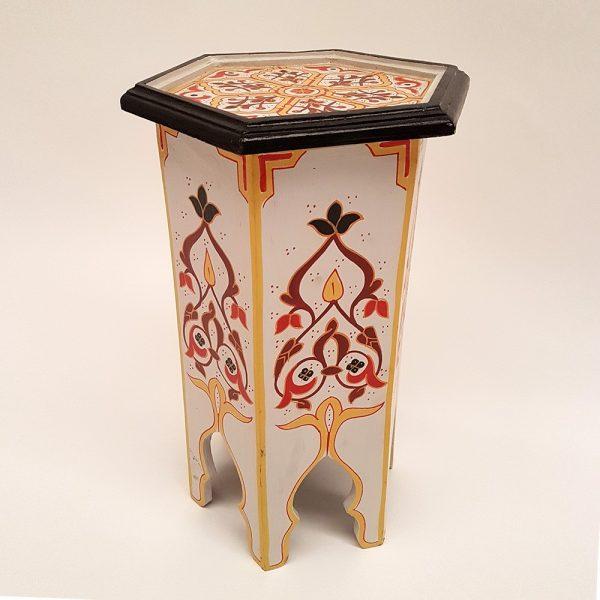Arabian Table - Wood - Hand Painted - Marrakech Model