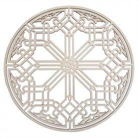 Celosia Arab Decoration - Laminated Wood Laser Cut - Model 15 - 25 cm