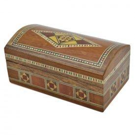 Baul Taracea Arab Syrian - Wood Cover Incrustrated - 12 cm