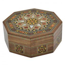 Arabic Box Taracea Syria Octagonal - Star Cap 8 Tips - 11.5 cm