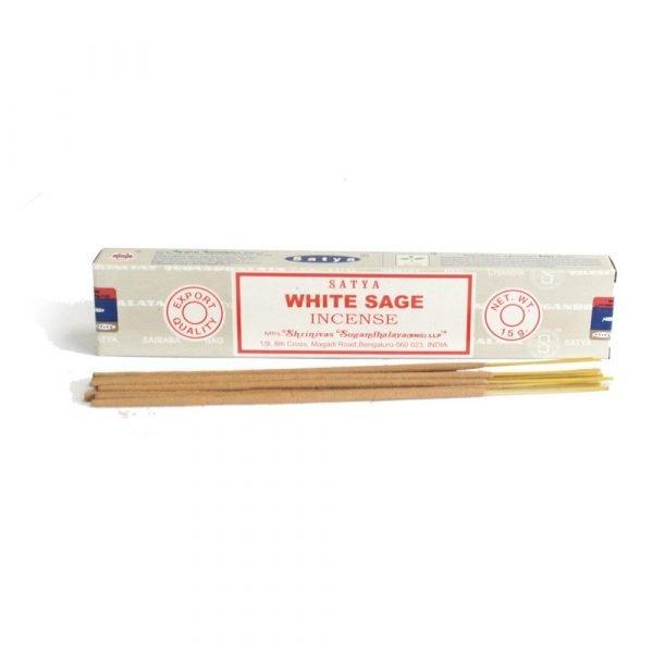 Incense White Salvia SATYA - White sage - Rods - 15 gr