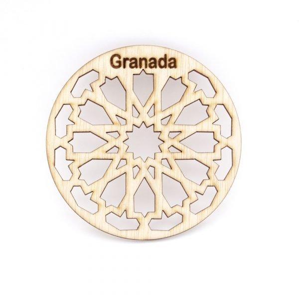 Pack 6 Granada Souvenir Coasters - Granada lattice